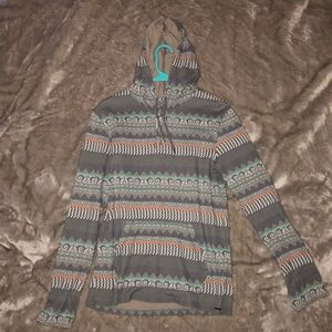 PAC SUN tribal printed hoodie shirt